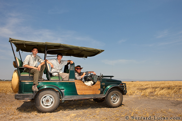 Will, Matthew and our guide, Adam Kennedy, on the Katisunga floodplain.