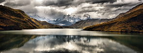 iew of Torres Del Paine across Lake Pehoe by Dale Mitchell